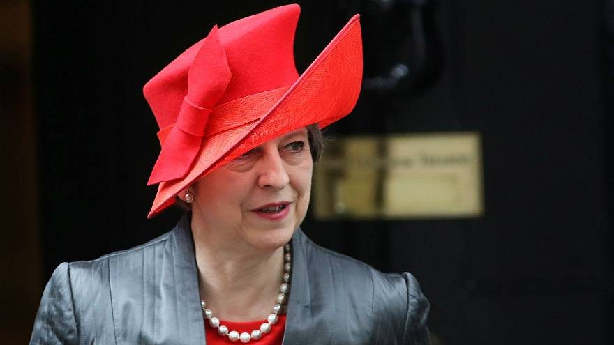 Theresa May leaves 10 Downing Street in London, March 12, 2018
