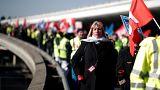 Air France-Mitarbeiter bei Protesten im Februar 2018.