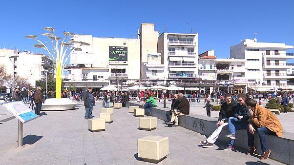 H κεντρική πλατεία της Ορεστιάδας