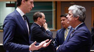 Le ministre néerlandais des Finances et le président de l'Eurogroupe