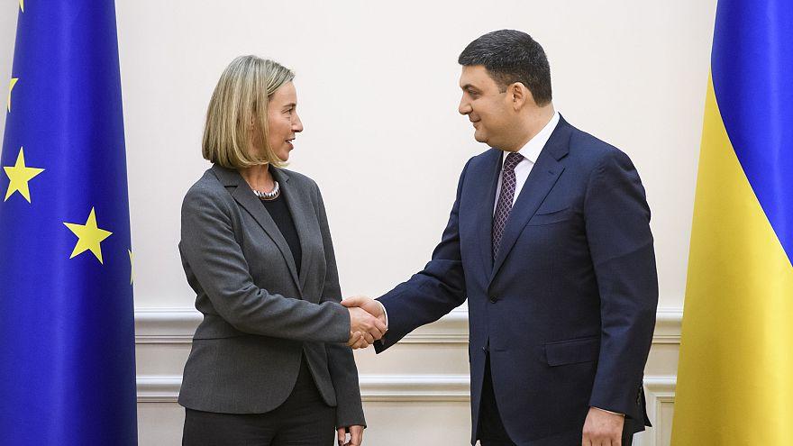 """Mogherini a Kiev: """"L'Ue il vostro più grande sostenitore"""""""