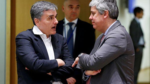 Cakalotosz görög pénzügyminiszter az Eurogroup elnökével, Mario Centenoval