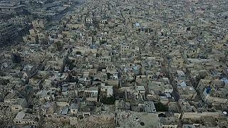 Imágenes aéreas de la devastación de la guerra