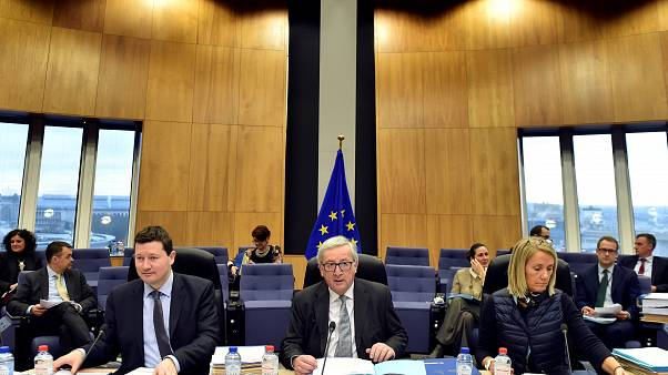 Selmayr, Juncker und Kabinettschefin Martinez Albero