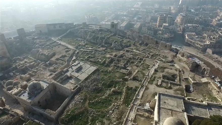 تصاویر پهپاد بر فراز ویرانههای حلب