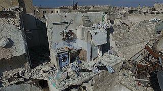 Halep'te savaşın silinmeyen izleri