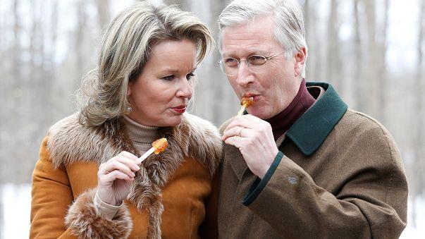 Le roi des Belges et son épouse à Ottawa.