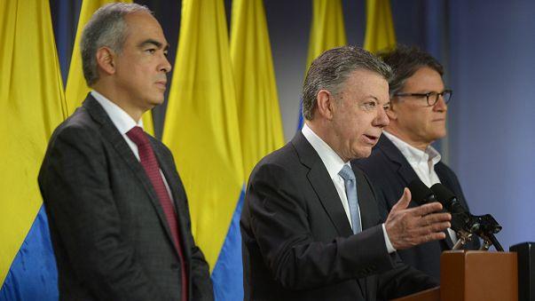 Santos durante la rueda de prensa