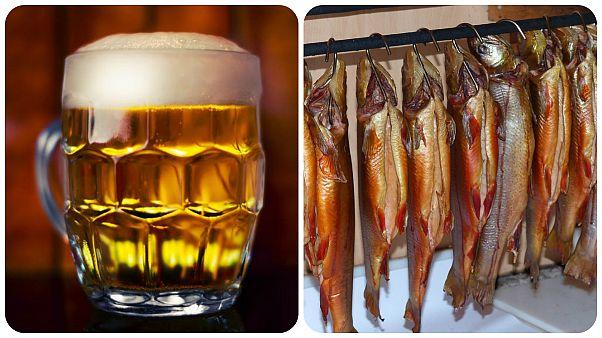 آنگلا مرکل و ولادیمیر پوتین به یکدیگر آبجو و ماهی دودی هدیه میدهند
