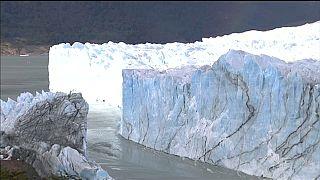 انفصال جسر جليدي يقطع سيل نهر بيريتو مورينو