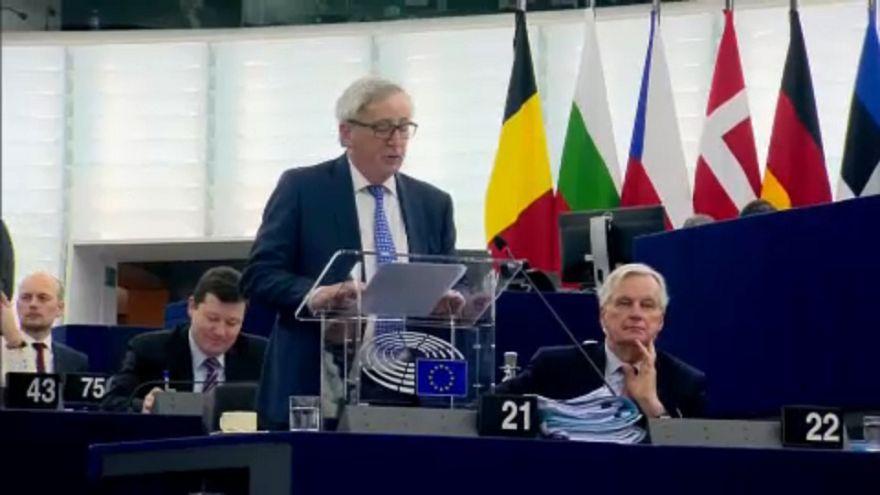 Jean-Claude Juncker em Estrasburgo