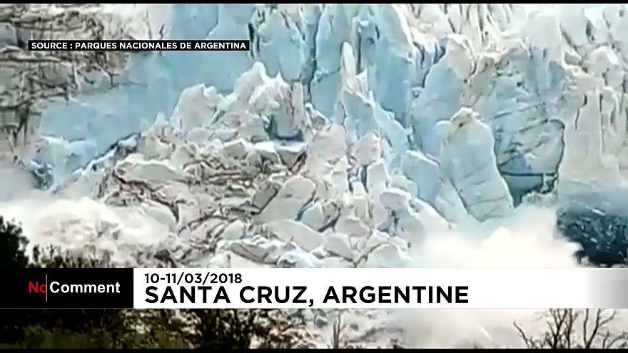 Argentine : rupture spectaculaire d'un glacier