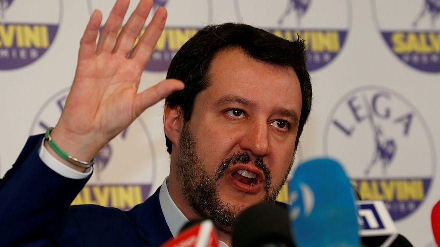 Le dirigeant italien de la Ligue Matteo Salvini