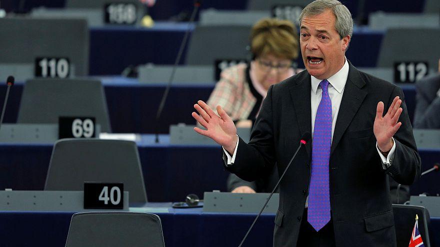 Nigel Farage beszél az Európai Parlament ülésén