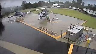 انتشار ویدئوی برخورد دو بالگرد پلیس آمریکا