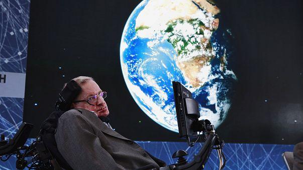 Hawking bei einer Konferenz 2016 in New York.