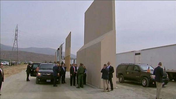 Protests as Trump contemplates his border wall