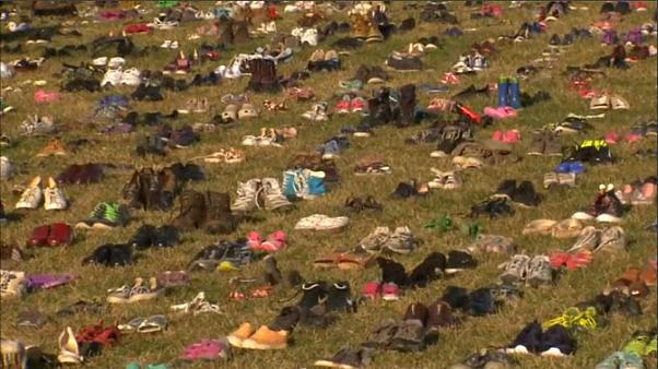 Seven thousand shoes pay tribute to US child gun violence victims