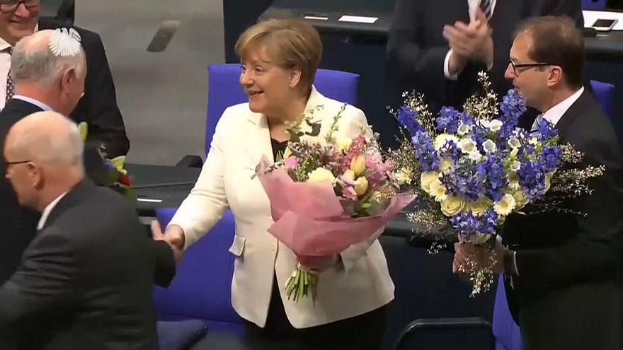 Меркель переизбрана на пост канцлера на 4-й срок