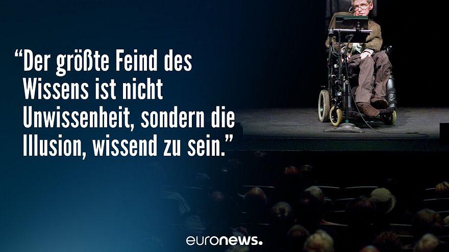 """""""In meinem Kopf bin ich frei"""" - 10 Zitate von Stephen Hawking"""