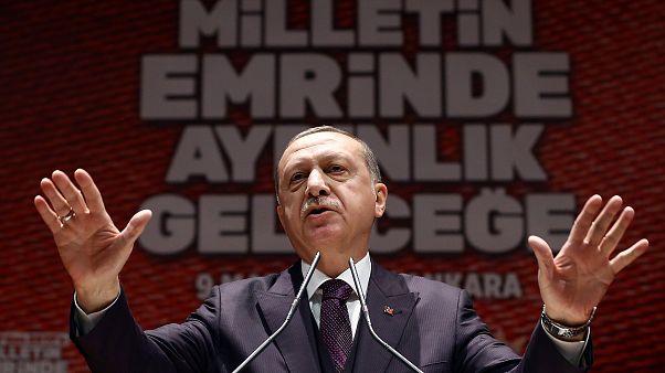 إردوغان يعبر عن أمله في تطويق عفرين بحلول مساء اليوم