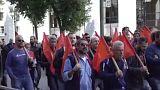 Ελλάδα: Απεργία και συγκέντρωση των οικοδόμων για τις ΣΣΕ