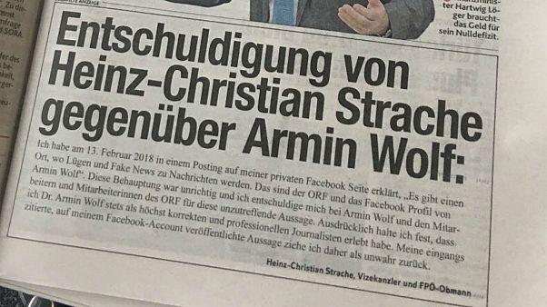 """Fake News"" en Autriche : Strache à l'amende"