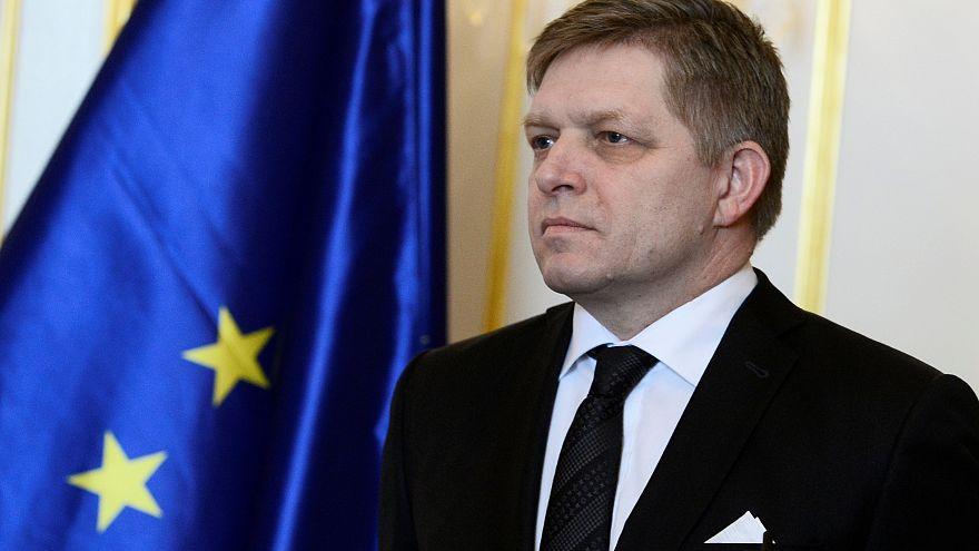 Ministerpräsident Fico Anfang März in der Burg Bratislava.