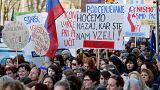 Pedagógussztrájk Szlovéniában
