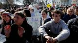 Student school walkout marks a month since Florida shootings