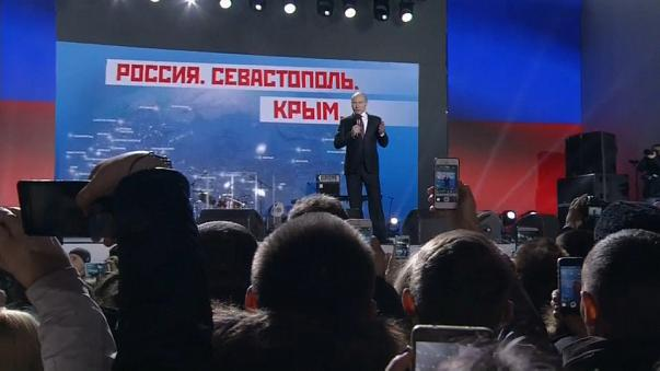 Putin shows his dominance ahead of election