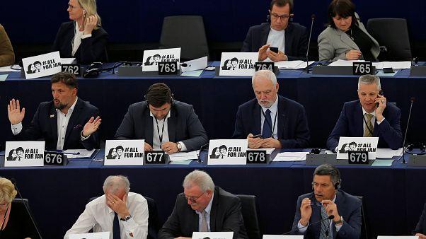 Les députés européens en session plénière