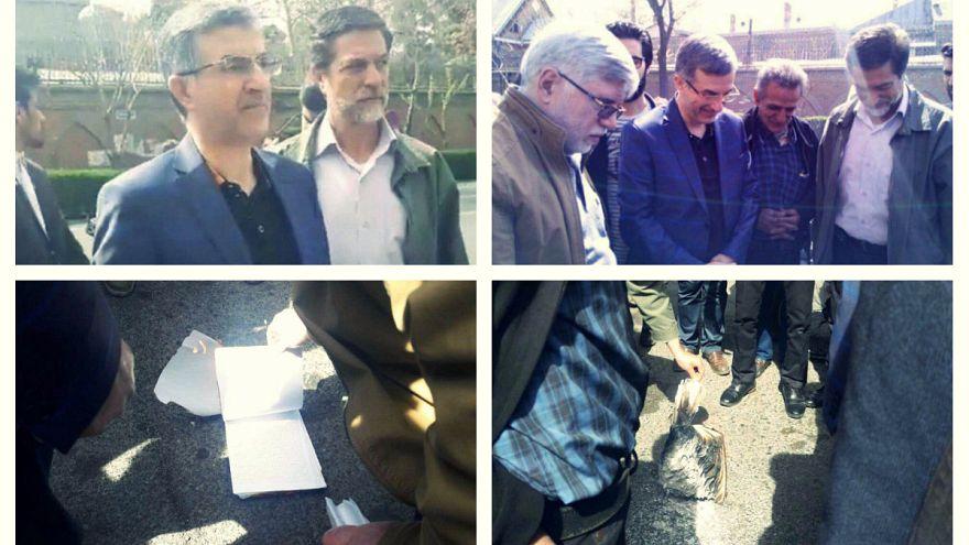 رحیم مشائی حکم حمید بقایی را در مقابل سفارت بریتانیا آتش زد