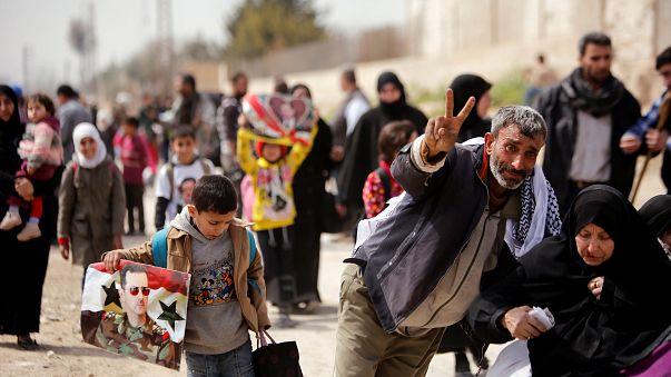 12,500 civilians flee rebel-held town in eastern Ghouta  — Syrian Observatory