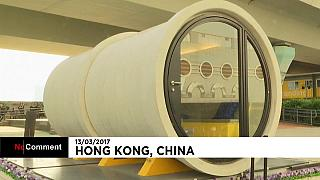 Recycling drainage pipes into new homes in Hong Kong