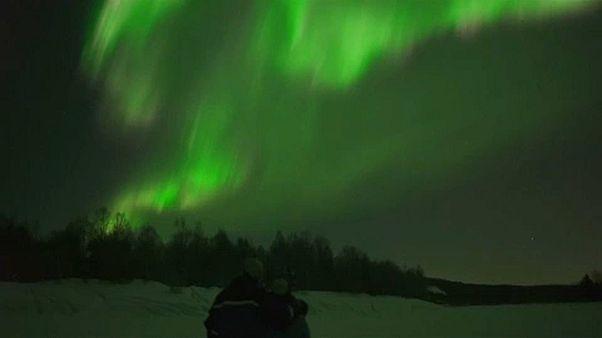 Aurora borealis Rovaniemi fölött
