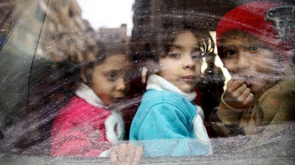 Ghouta orientale : les civils fuient les combats