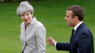 Theresa May et Emmanuel Macron
