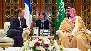 ولیعهد عربستان و رئیس جمهوری فرانسه