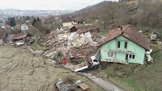 بالفيديو: بيوت تنهار بسبب ذوبان الثلج المفاجئ في كرواتيا