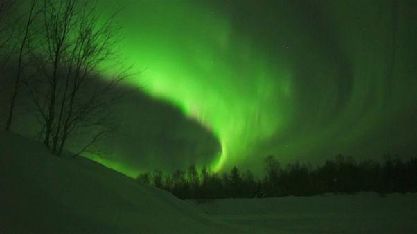 Mágicas auroras boreales en Finlandia