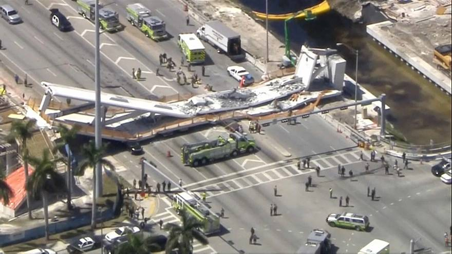 Colapso de ponte em Miami provoca vários mortos