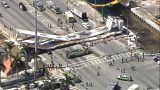 ریزش پل عابر پیاده در میامی آمریکا دستکم شش کشته بر جای گذاشت