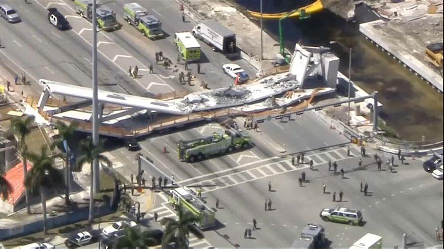Crolla cavalcavia a Miami: almeno quattro morti