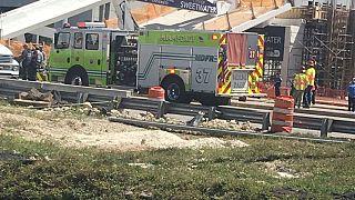Effondrement d'un pont à Miami
