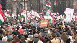Pro-government election rally in Budapest
