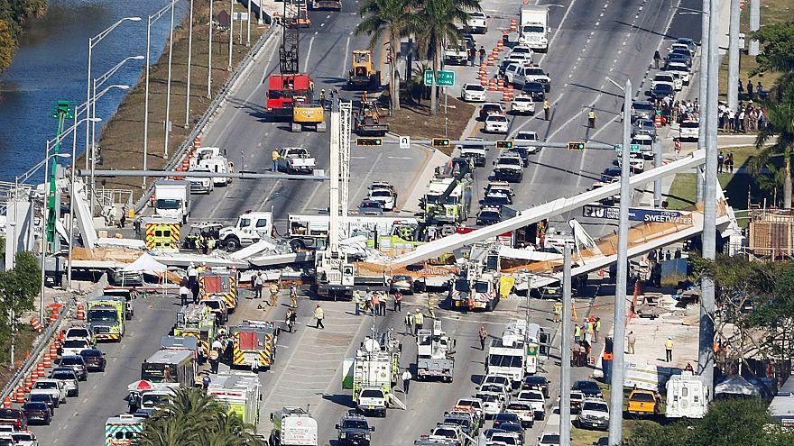 Quatro mortos em queda de ponte pedonal na Florida
