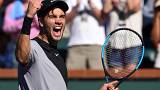 Borna Coric au tournoi d'Indian Wells