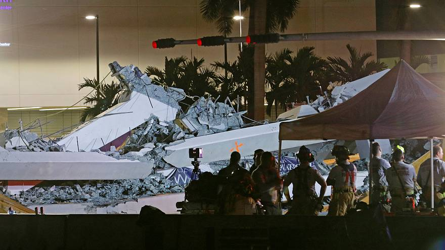 Effondrement meurtrier d'un pont à Miami