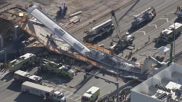 Al menos 4 muertos y 10 heridos al desplomarse un puente en Miami
